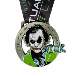 Cut-out Medal with Glitter, Zinc Alloy Diecast Medal,