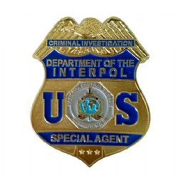 US Interpol Badge