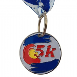 Soft Enamel 5K Run Medal