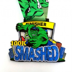 100K Run Finisher Medal